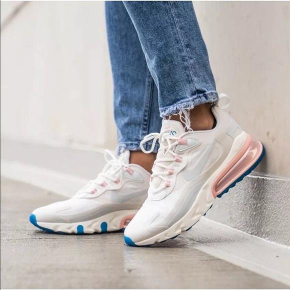 Nike Shoes Womens Air Max 270 React Ghost Aqua Sneakers Poshmark